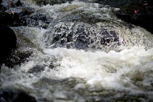 Water Waterfall River Splash Wet Nature Landscape