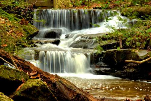 Waterfall Landscape Nature Cascade Scenic Outdoors