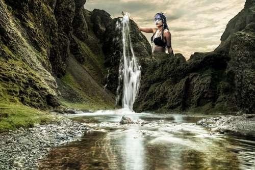 Waterfall River Nature Torrent Gray Scotland Fall