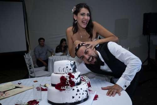 Wedding Marriage Cake Flowers Cream Romantic