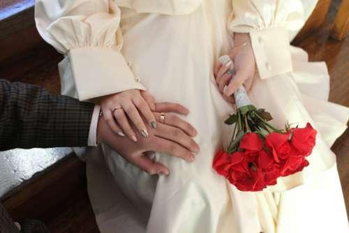 White Ring Flowers Wedding Ceremony Jewelry
