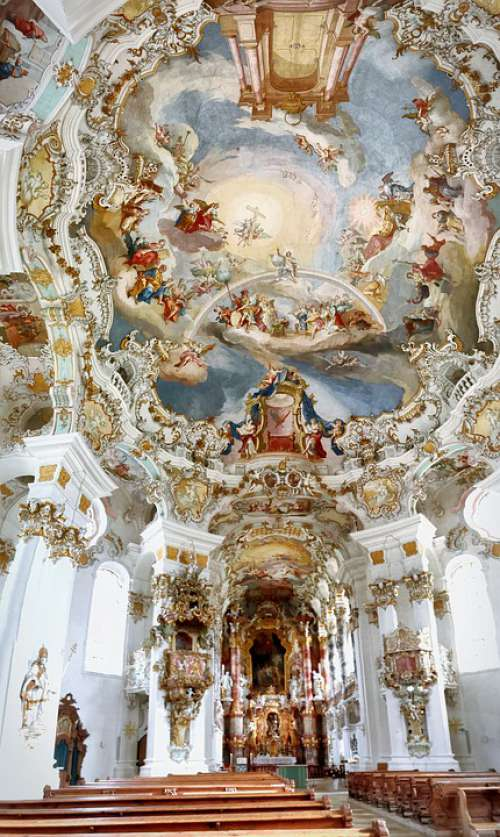 Wieskirche Wies Church Bavaria Rococo Christianity