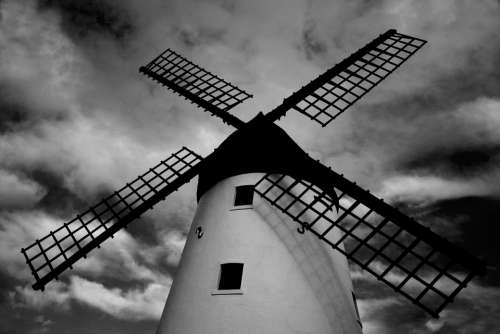 Windmill Architecture Landscape Building Sky Wind