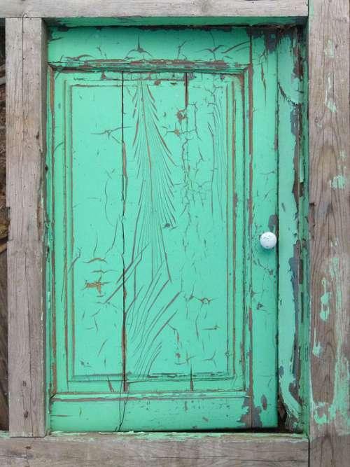 Window Old Peeling Paint Texture Abandoned Vintage