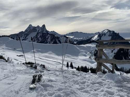 Winter Skiing Mountain