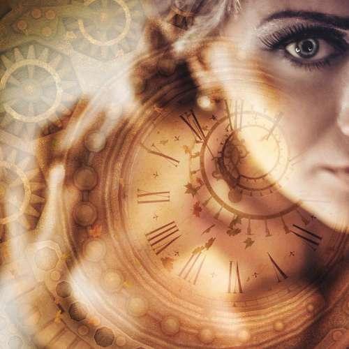 Woman Time Clock Mystery Sad Fantasy Steampunk