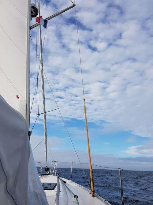 Yacht Sea Boat Ship Sky Water Landscape Holidays