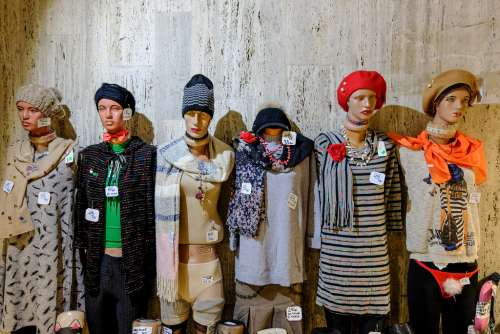 Mannequins Wearing Winter Clothes