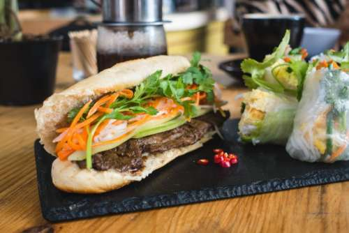 Vietnamese baguette banh mi
