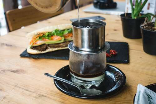 Vietnamese coffee with condensed milk Ca Phe Sua Da