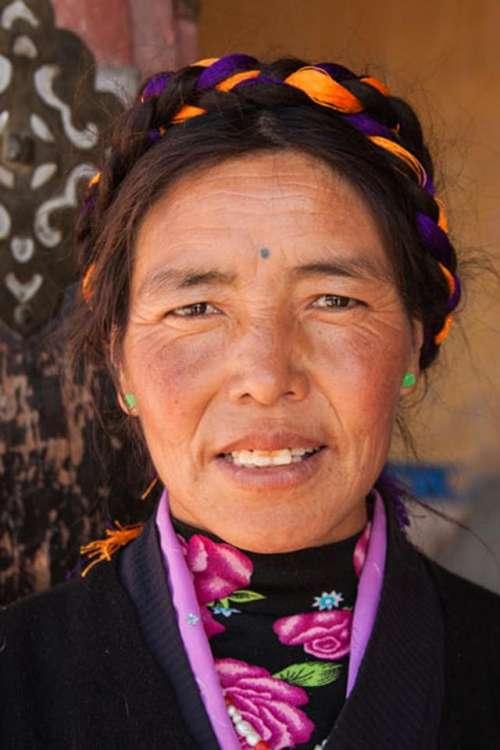 portrait  woman  Tibetan woman  smile happy