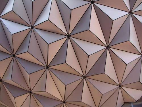 Epcot close up geometric design abstract