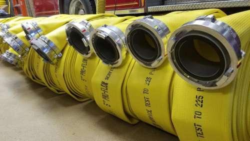Fire hose fire department firehouse industrial hose