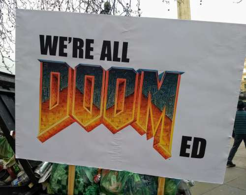 we are all doomed funny poster