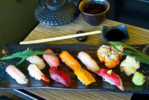 sushi Japanese food still life