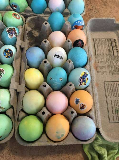 Easter Eggs Color Colored Decorate