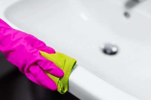 Bathroom Cleaning Microfibre Cloth Polishing