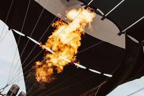 Hot Air Balloon Fire