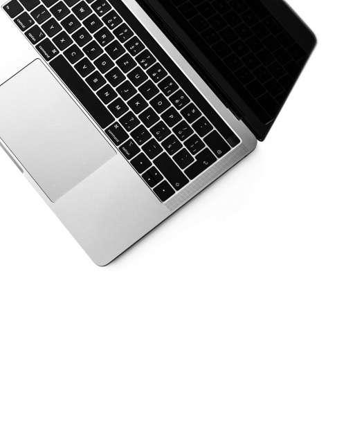 Minimalistic Laptop Keyboard Isolated