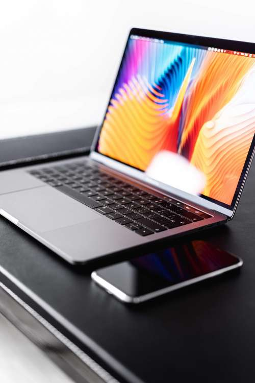 New MacBook Pro with iPhone