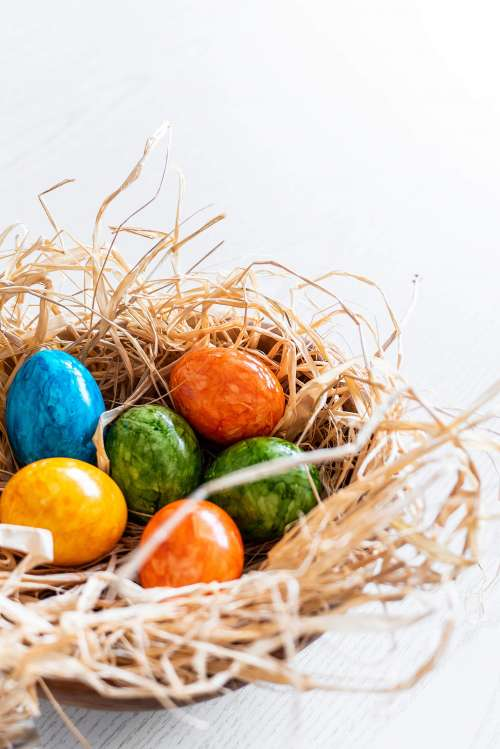 Vertical Colored Easter Eggs