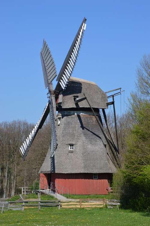 Alte Häuser Scheunen Bauernhof Windmühle Fachwerk
