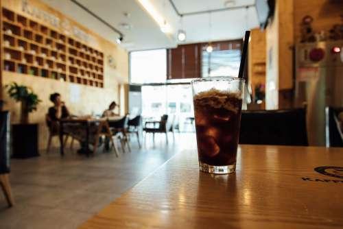 Americano Ice Coffee Iced Americano Glass Cup