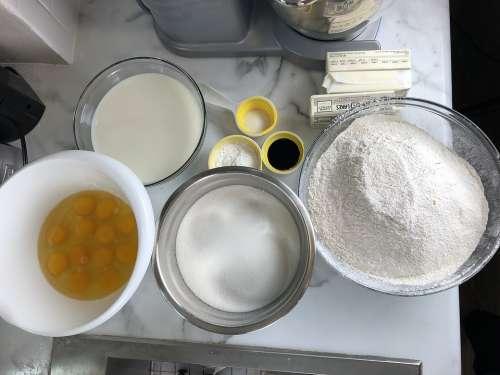 Baked Goods Food Flour Vanilla Flavor Eggs Cream