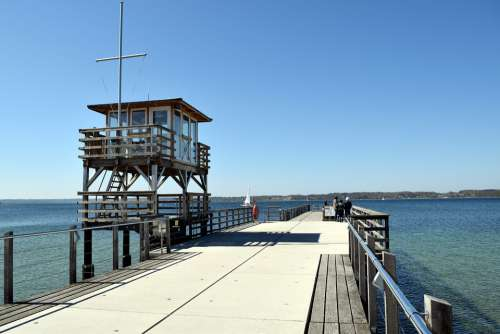 Baltic Sea Sea Bridge Beach Water Coast Vacations