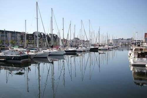 Bateaux Port Mer Océan Soleil Normandie