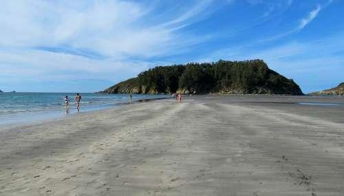 Beach Sand Sea Vacation Nature Coast Galicia