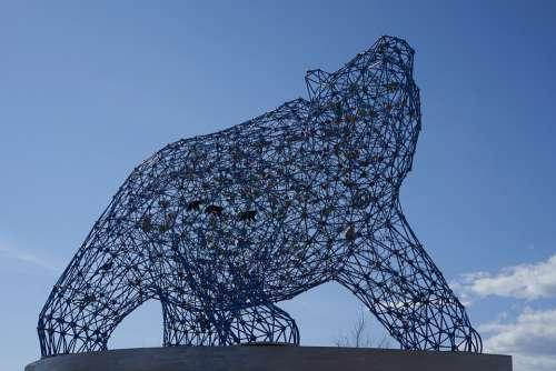 Bear Sculpture Kelowna British Columbia Statue Sky