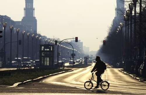 Berlin Avenue Morgenstimmung City Friedrichshain