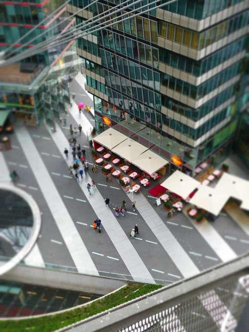 Berlin Sony Center Restaurant Effect Camera