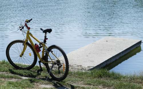 Bike Parked Vehicle Urban Leisure Cycling