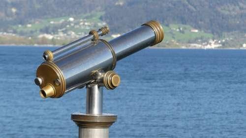 Binoculars Water View Nature Travel Lake Waters