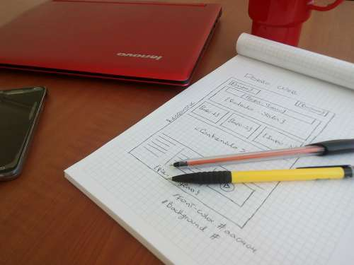 Book Pencil Code Programming Red Notebook