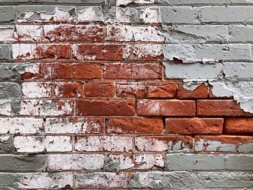 Brick Texture Painted Wall Structure Building