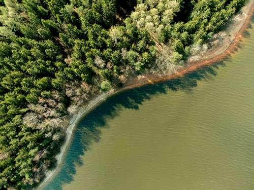 Brine Dji Drone Aerial View Drones Recording