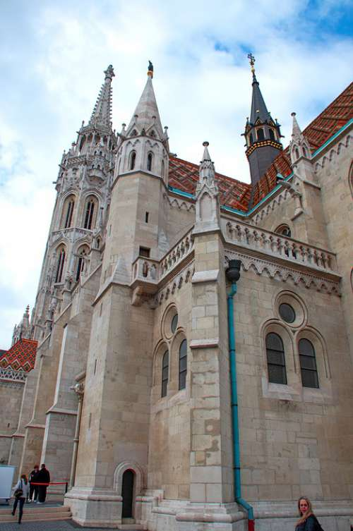 Buda Castle Hungarian Building Window Architecture