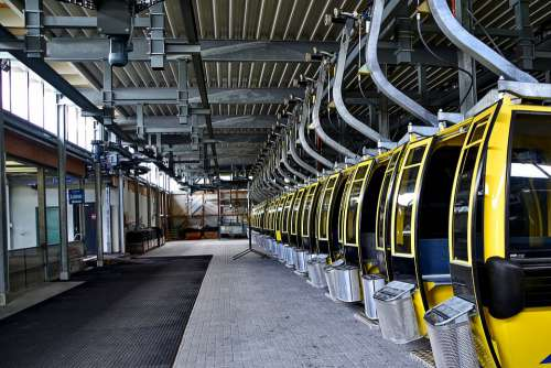Cable Car Cabins Hall Service Technology Transport