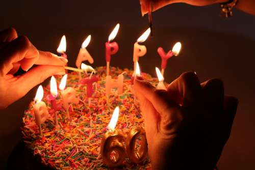 Cake Candles Birthday Flame Dessert Party Sweet