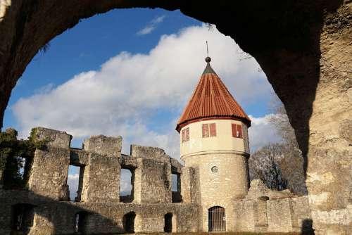 Castle Ruin Tower Fortress Middle Ages Tuttlingen