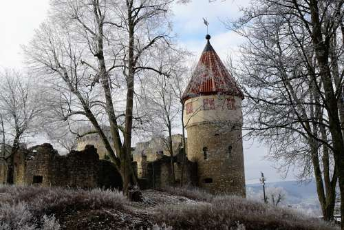 Castle Ruin Tower Fortress Middle Ages Tuttlingen