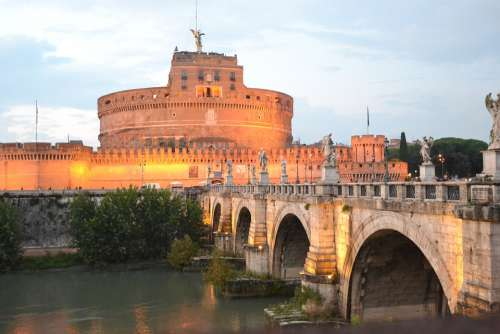 Castle Sant'Angelo Rome Sunset Castle Italy