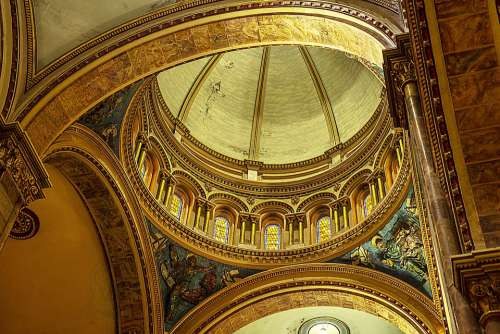 Cathedral Dome Architecture Religion Ecuador