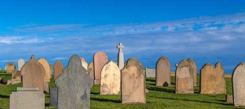 Cemetery Sky Grave Stones Religion Mood Death
