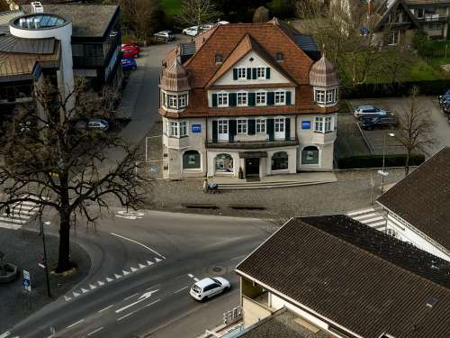 Centre Of The Village Building Old Historically