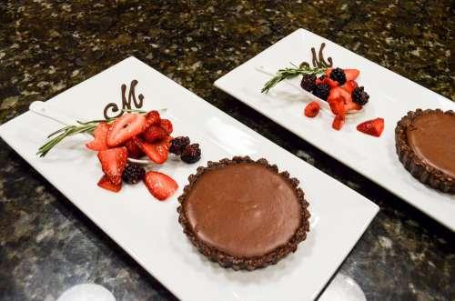 Chocolate Tarte Dessert Fancy Pastries Chocolate