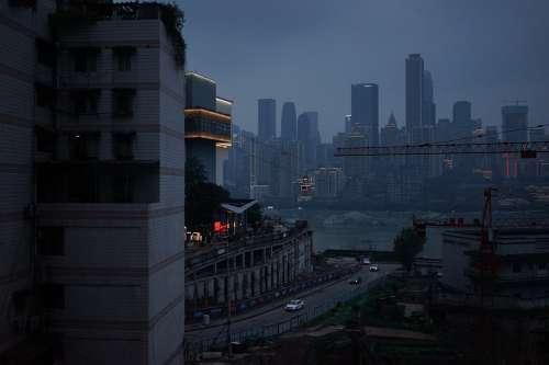 Chongqing The Yangtze River Ropeway Cloudy Day